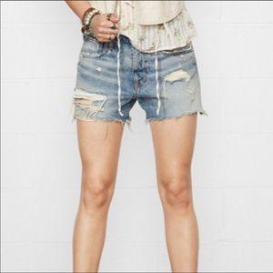 Ralph Lauren Distressed Denim Shorts Size 30